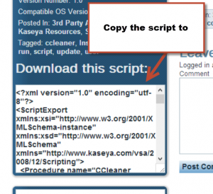 Download CCleaner script